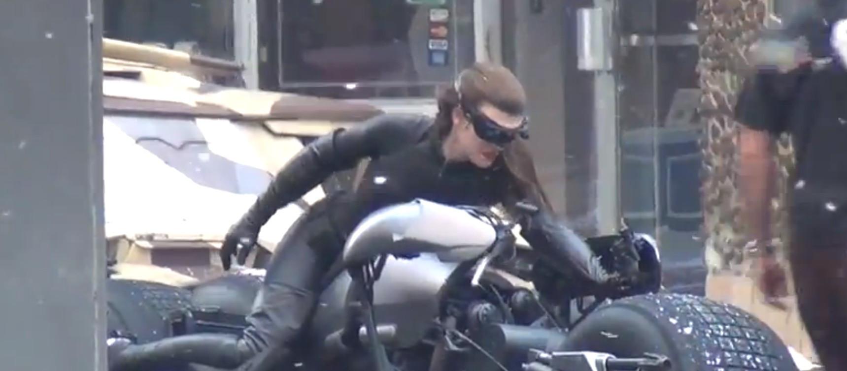 Cena com Catwoman, nas gravações de The Dark Knight Rises