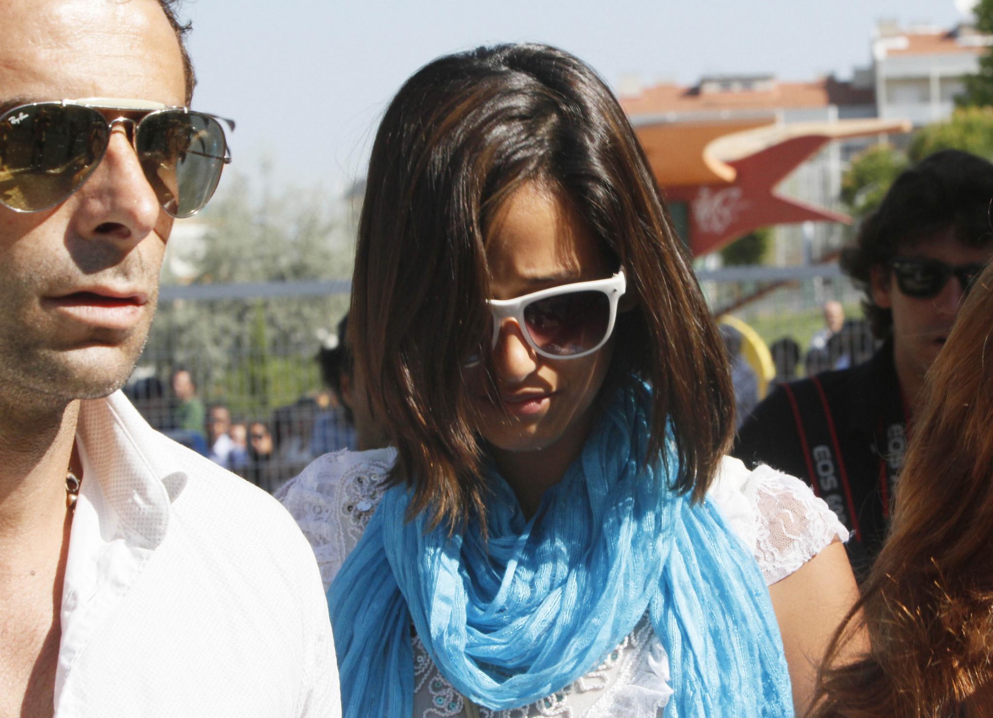 Rita Pereira no funeral de Angélico