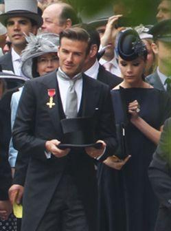 David e Victoria Beckham super elegantes no casamento real