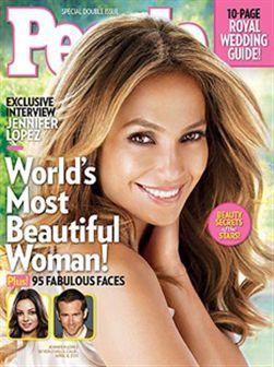 Jennifer Lopez eleita a mulher mais bela pela People