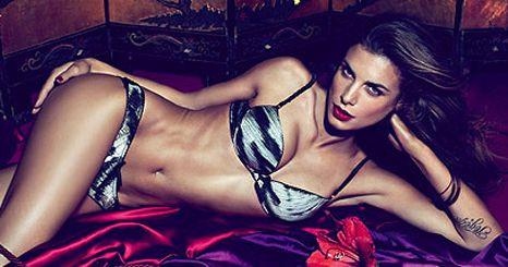 Elisabetta Canalis na campanha de lingerie Roberto Cavalli