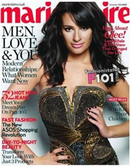 Lea Michele, estrela de Glee, em topless  para a Marie Claire (com vídeo)