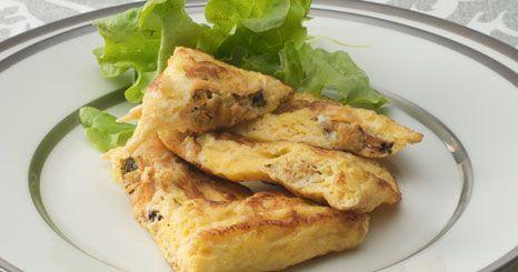 Tortilha de mexilhão e alho francês