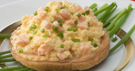 Tarteletes de salmão e ovo