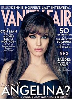 Angelina Jolie na Vanity Fair: