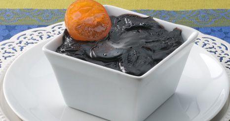 Doce de chocolate e laranja