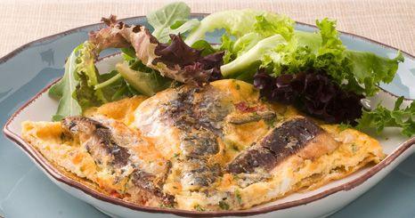 Tortilha de sardinhas com malagueta