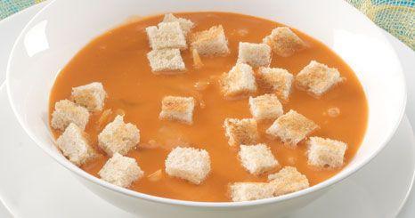 Sopa de cebola com tomate