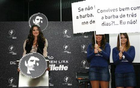 Cláudia Vieira gosta de homens bem barbeados