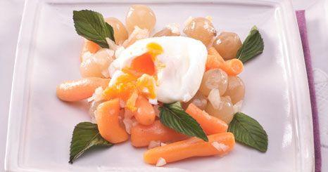Cenouras salteadas com cebolinhas