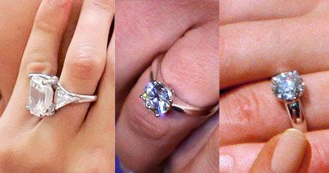 Espreite os anéis de noivado exibidos pelas celebridades
