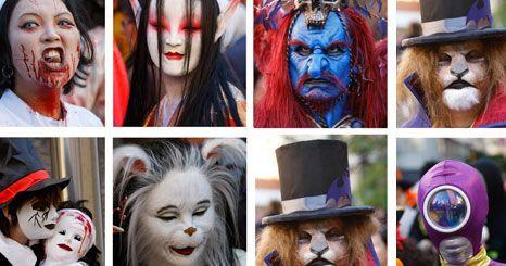 IMAGENS DO DIA: Máscaras de Halloween