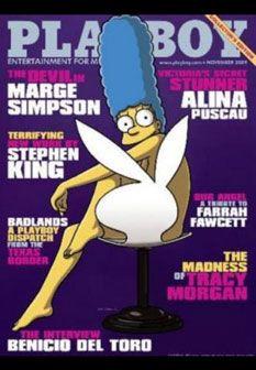 Marge Simpson em fotos ousadas para a Playboy