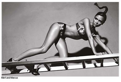 Victoria Beckham: gata em telhado de zinco quente