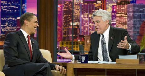 Obama foi convidado de honra de Jay Leno