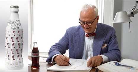 Manolo Blahnik veste Coca-Cola Light
