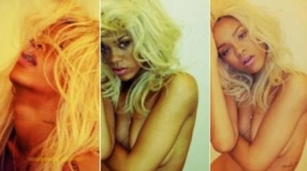 Rihanna ousada para promover perfume