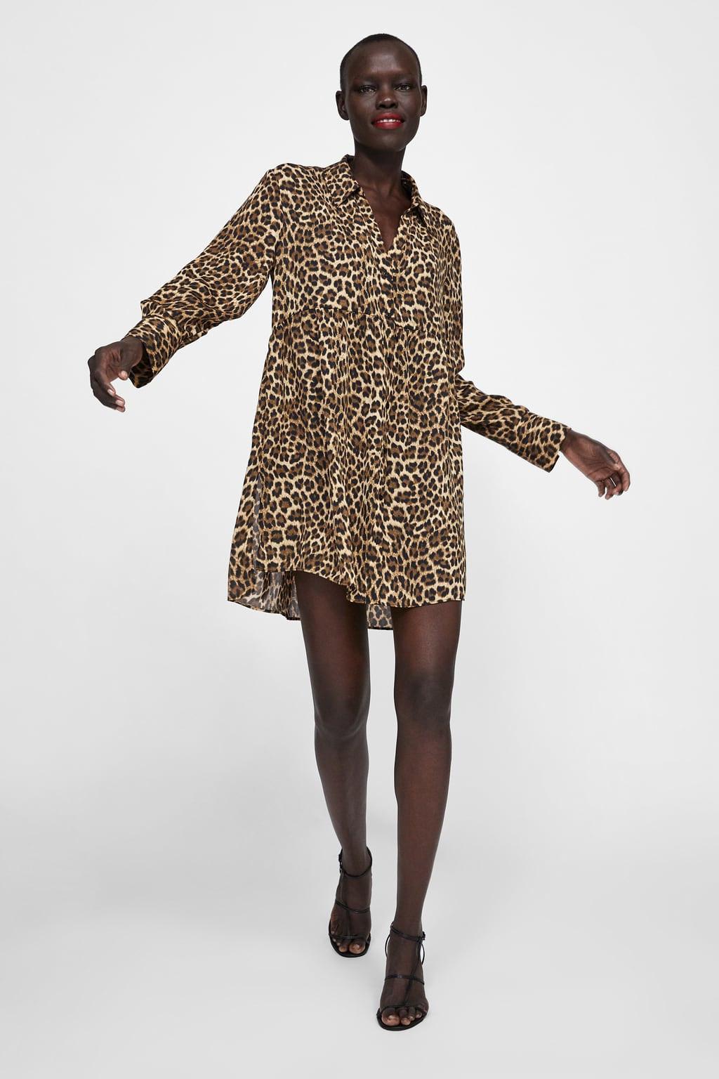 Zara mujer blusas Estampado Animal | eBay