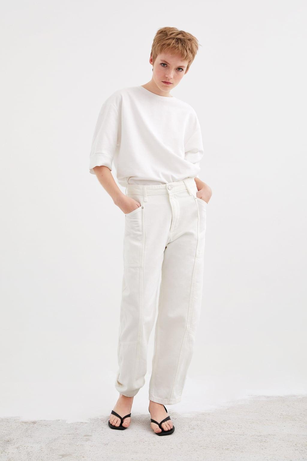 Calças Cargo brancas, Zara.jpg