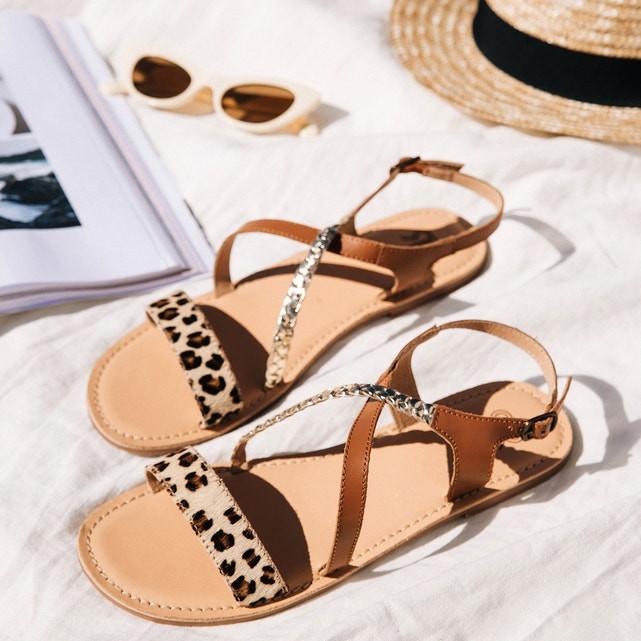 Sandálias em pele com detalhe leopardo (antes 49,99 euros, agora 24, 99 euros) La Redoute.jpg