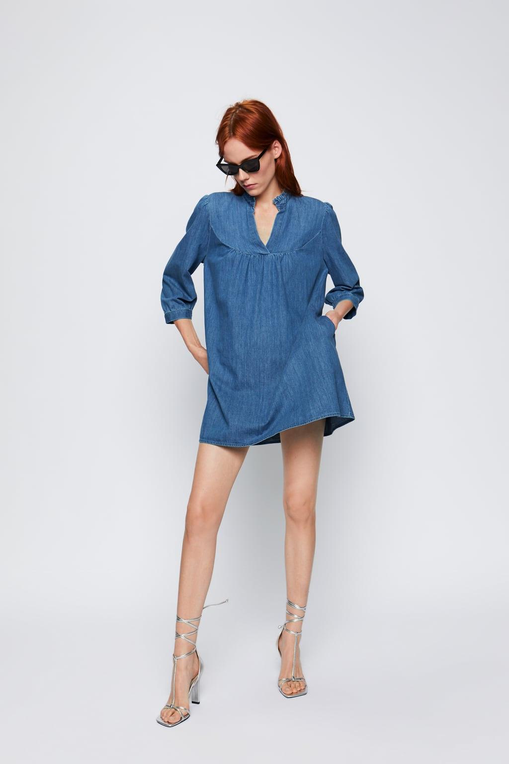 Vestido denim da Zara, 29,95 euros.jpg