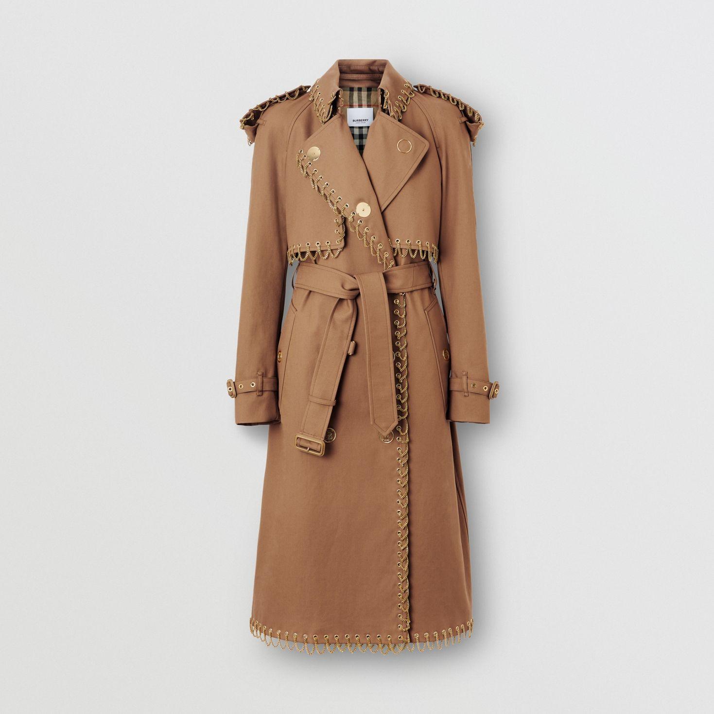 Trench coat de gabardine de algodão com detalhe de corrente_women.jpg