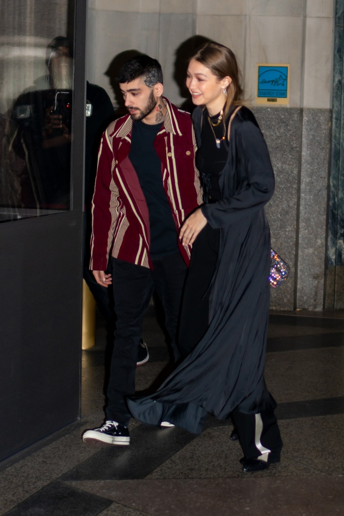 NEW YORK, NEW YORK - JANUARY 12: Zayn Malik (L) and Gigi Hadid are seen outside Eleven Madison Park on January 12, 2020 in New York City. (Photo by Gotham/GC Images)