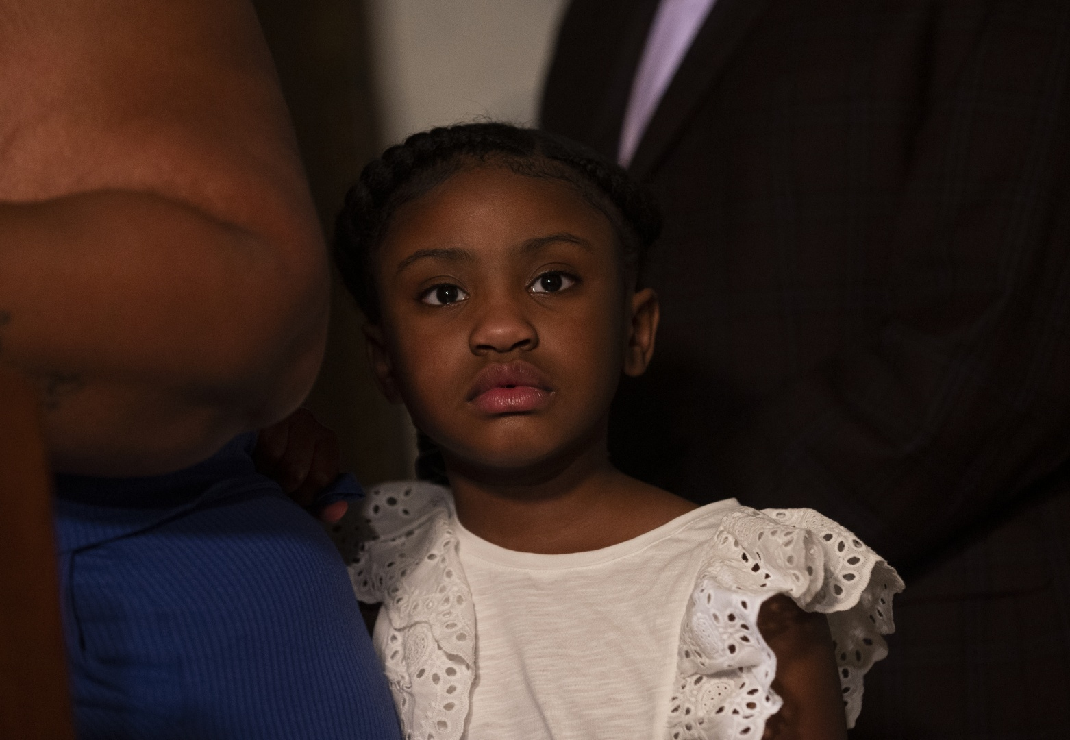 MINNEAPOLIS, MN - JUNE 2: George Floyd's daughter Gianna Floyd, attends a press conference with her mother Roxie Washington on June 2, 2020 in Minneapolis, Minnesota. Washington was joined by her daughter and Floyd's friend, former NBA Player Stephen Jackson, speaking about the impact of his death on their family. (Photo by Stephen Maturen/Getty Images)