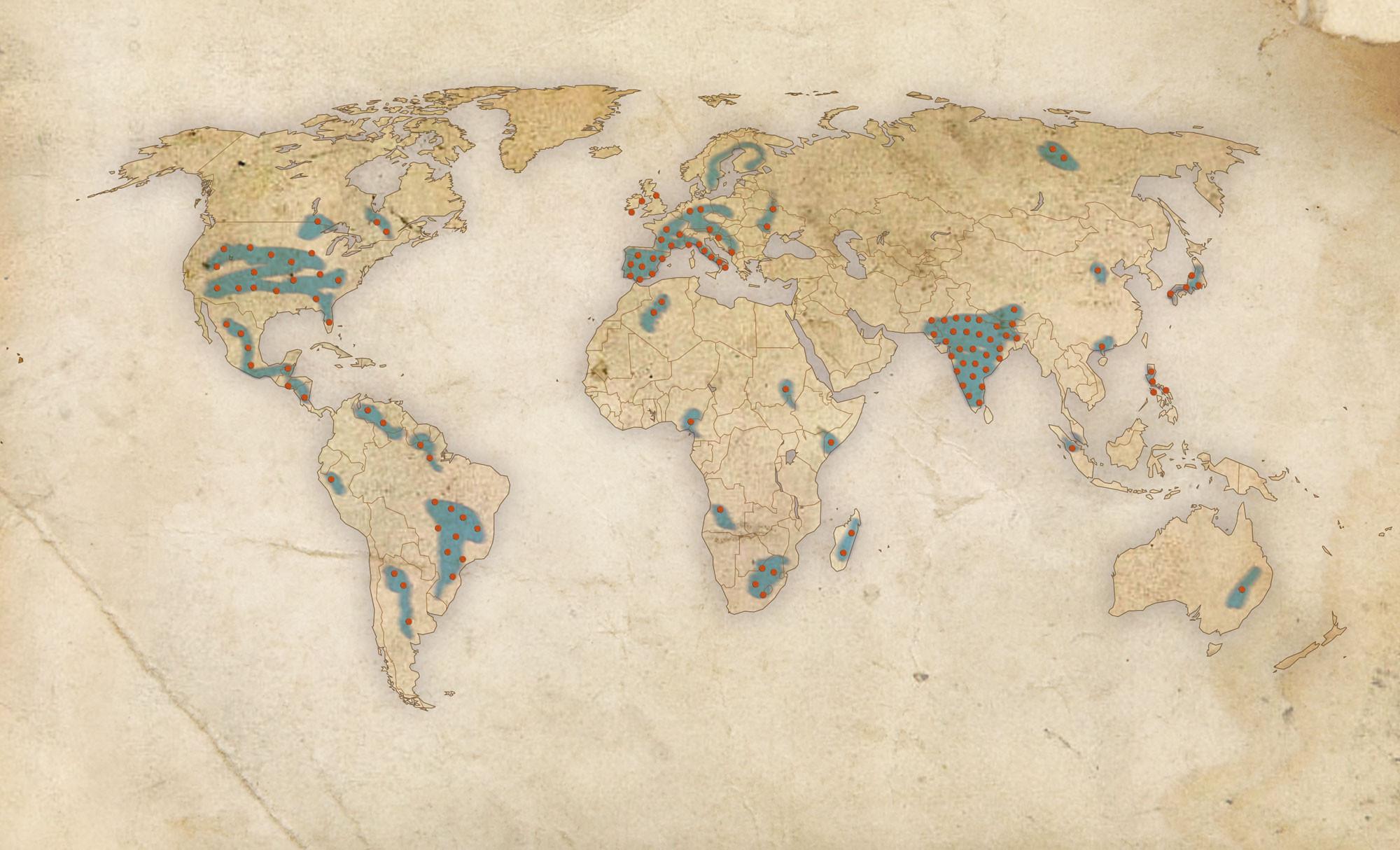 Mapa jesuítas