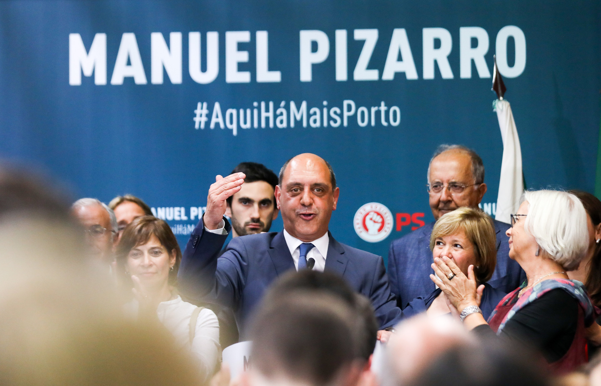 Fotos da noite eleitoral na sede de Manuel Pizarro