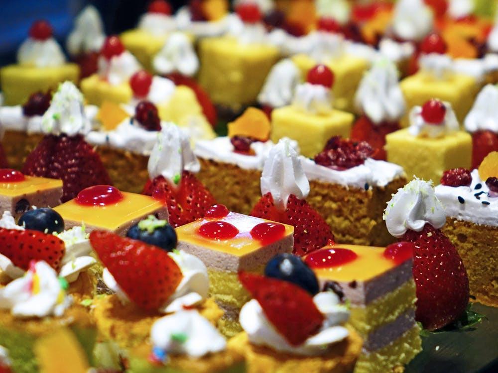 bolos doces açúcar