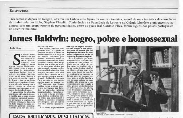 As noites lisboetas de James Baldwin  com Oulman, fados e bifes do Lacerda