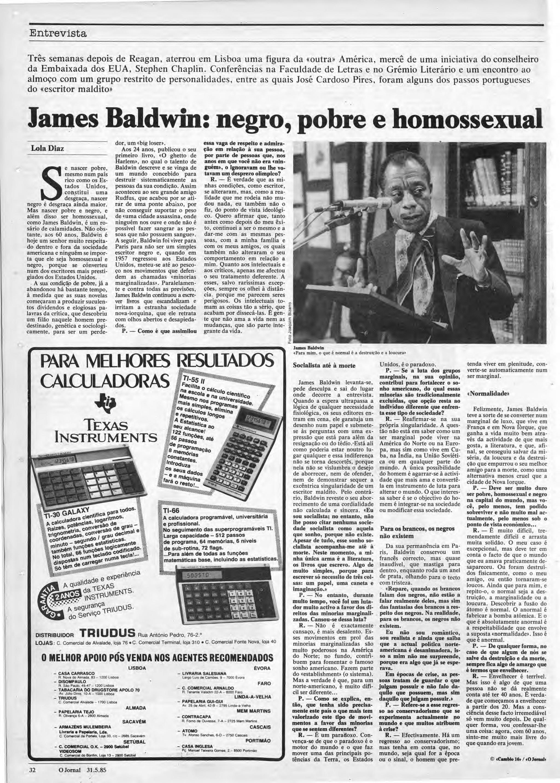 As noites lisboetas de James Baldwin  com Oulman, fados e bifes do Lacerda