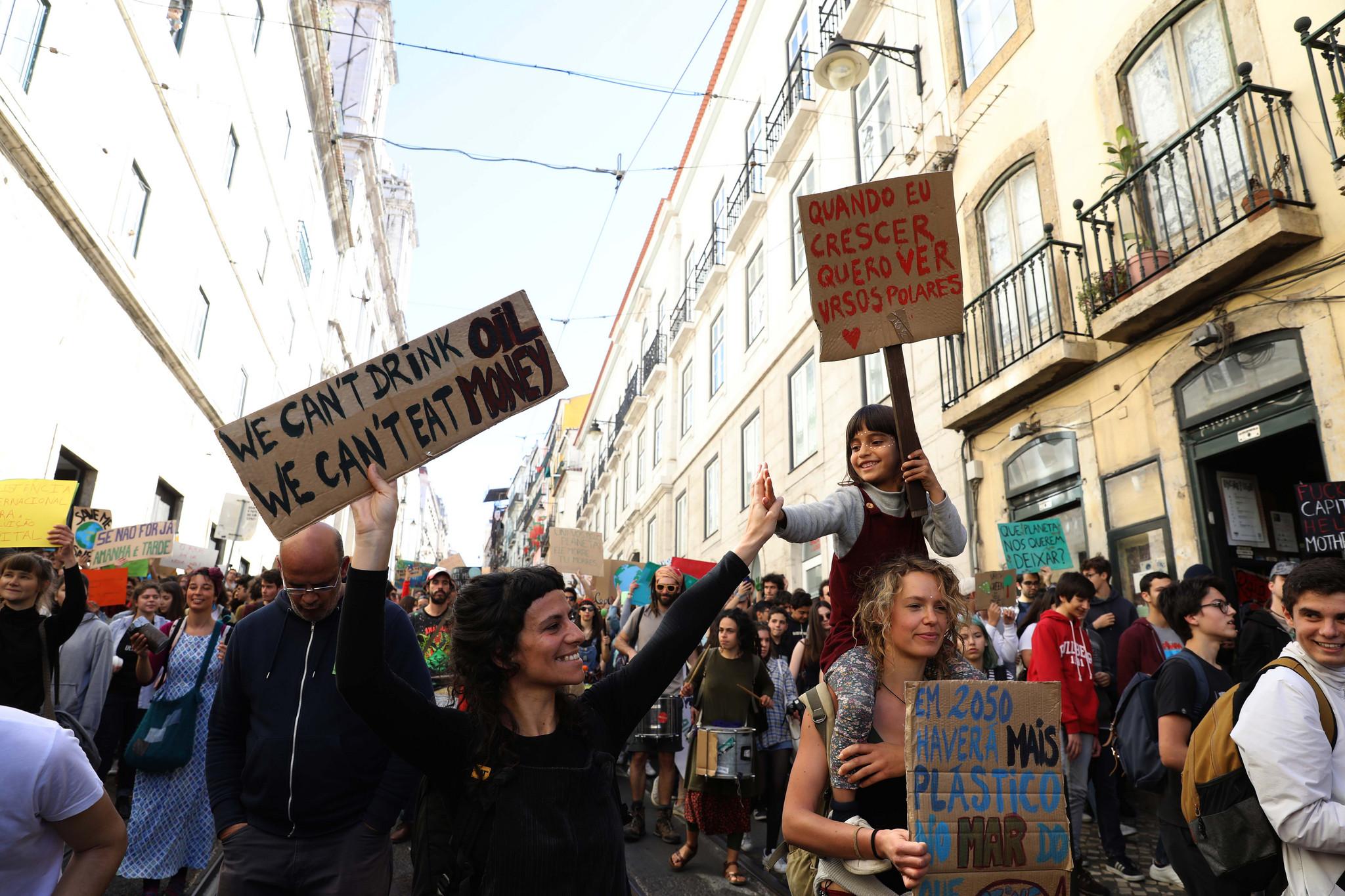 Manifestação estudantil pelo clima, em Lisboa. Vê as imagens!