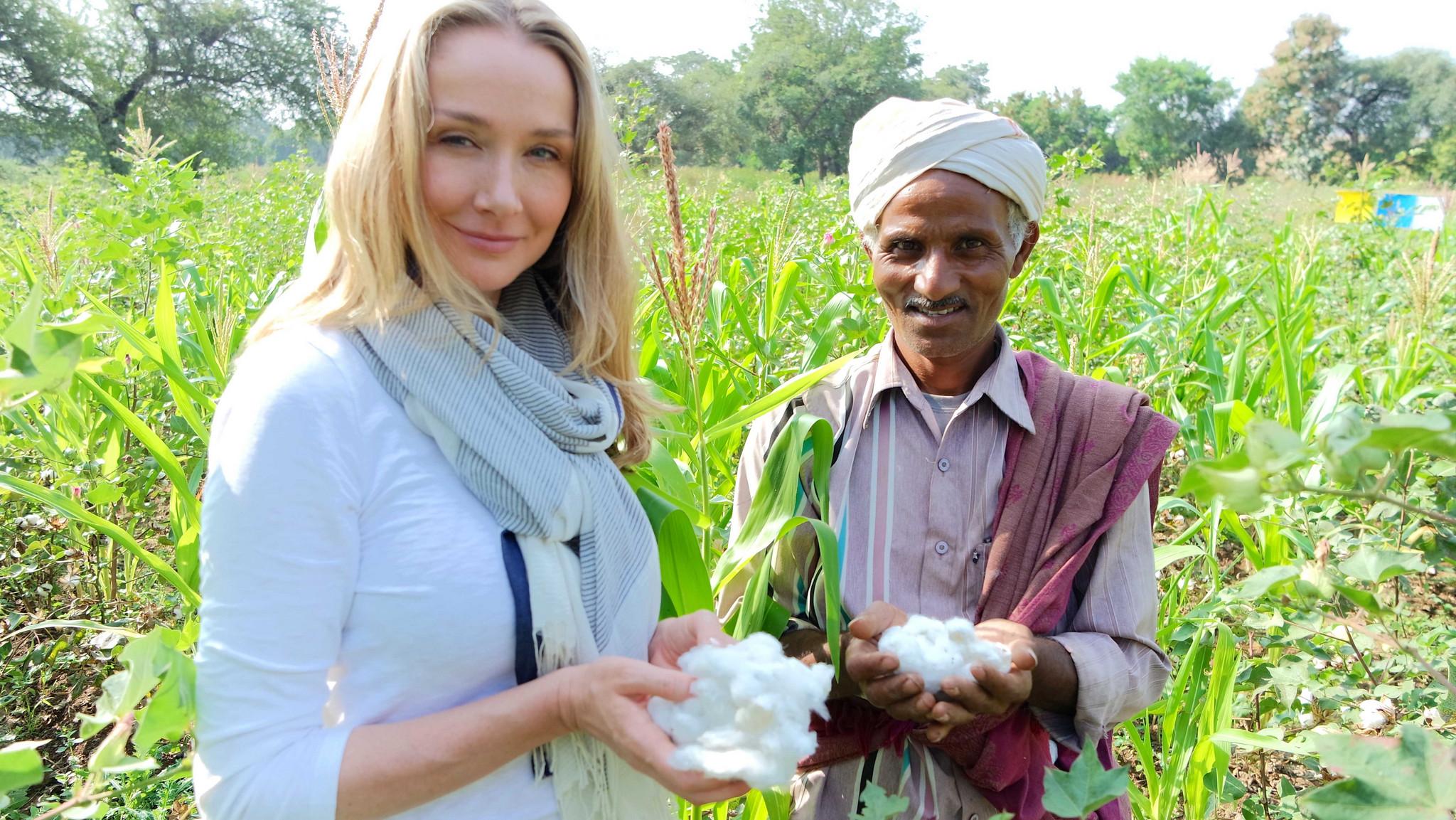 alexandra cousteau and organic cotton farmer shivlal jadha - 2015 mirella pappalardo.jpg