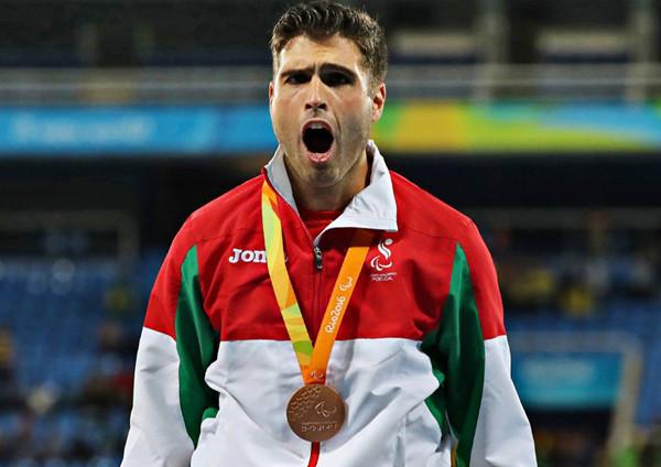 Luís Gonçalves conquista medalha de bronze nos Jogos Paralímpicos