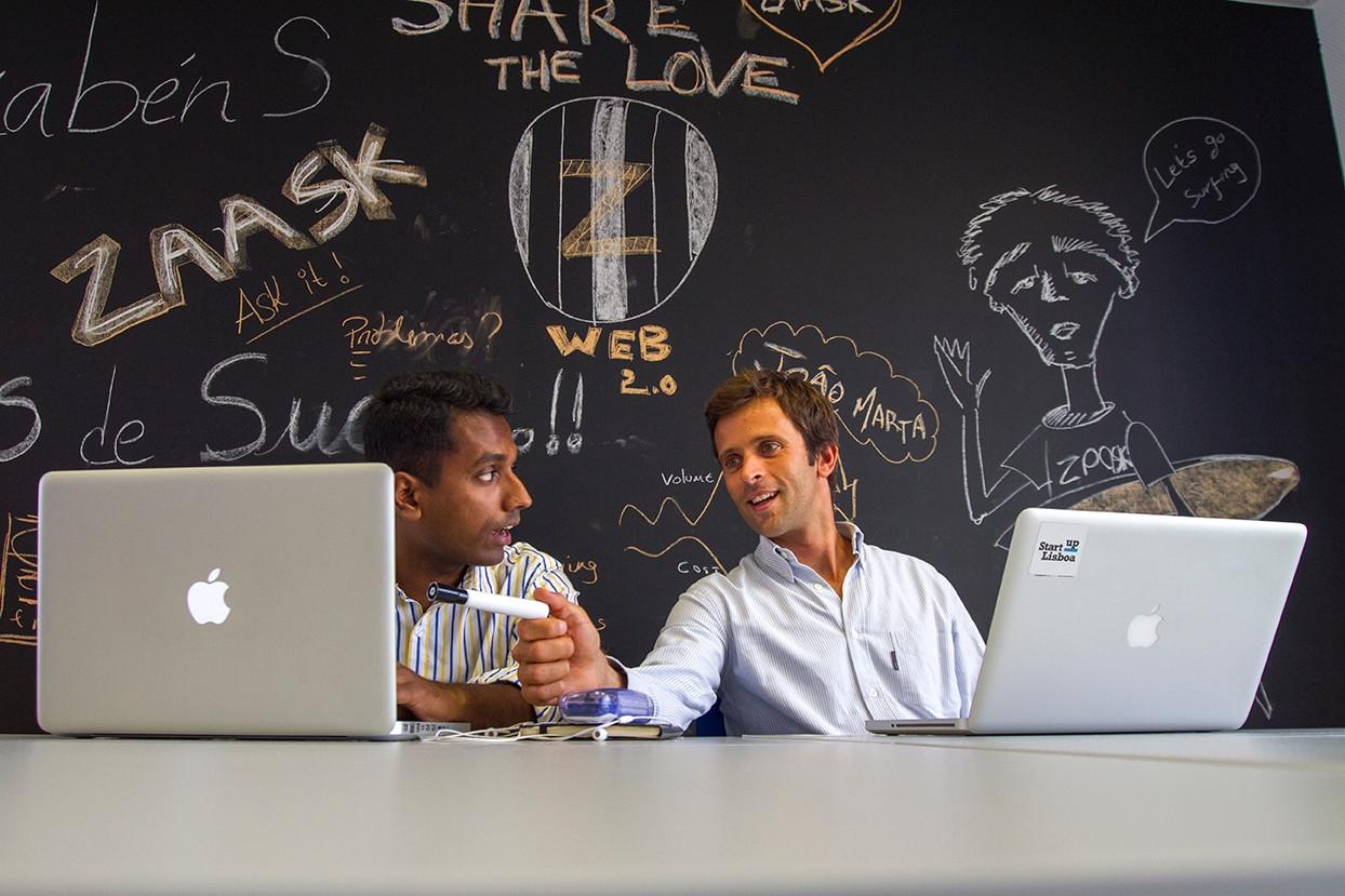 kiruba and luis Zaask Startup