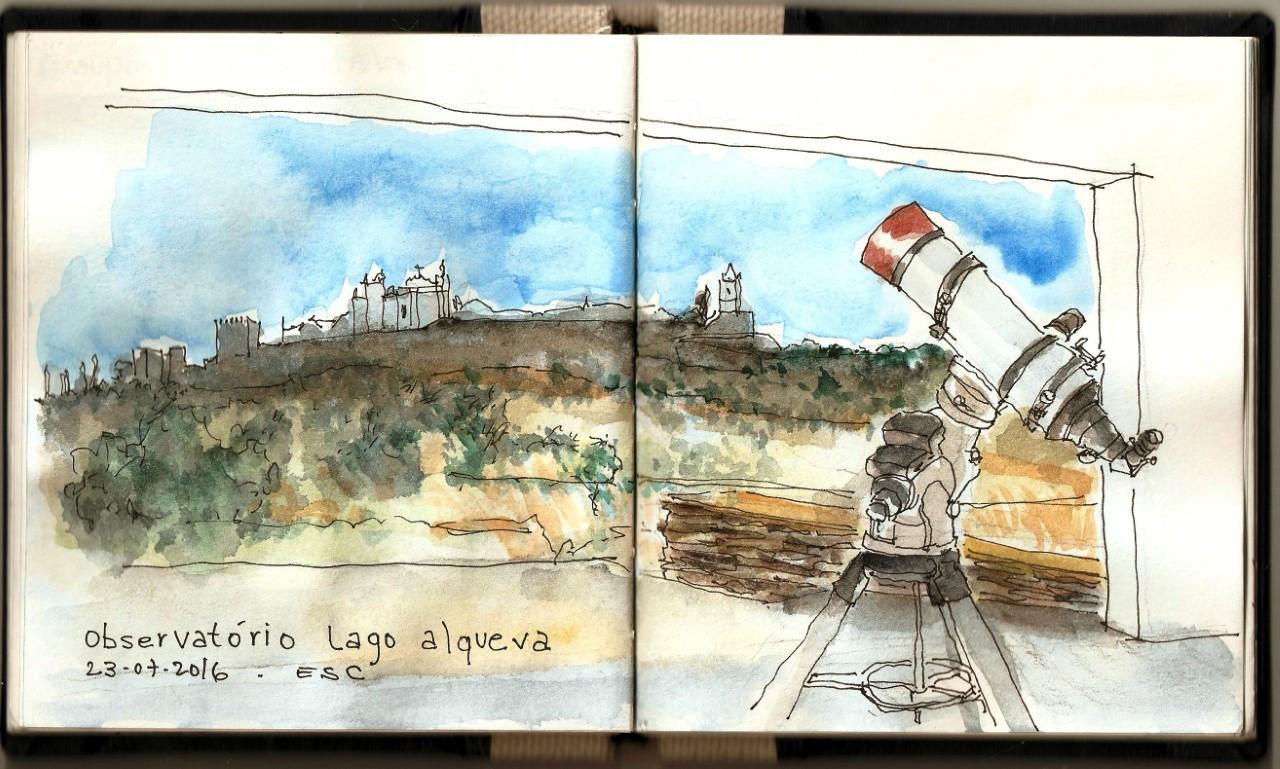 Story image for observatorio do lago alqueva from Visão