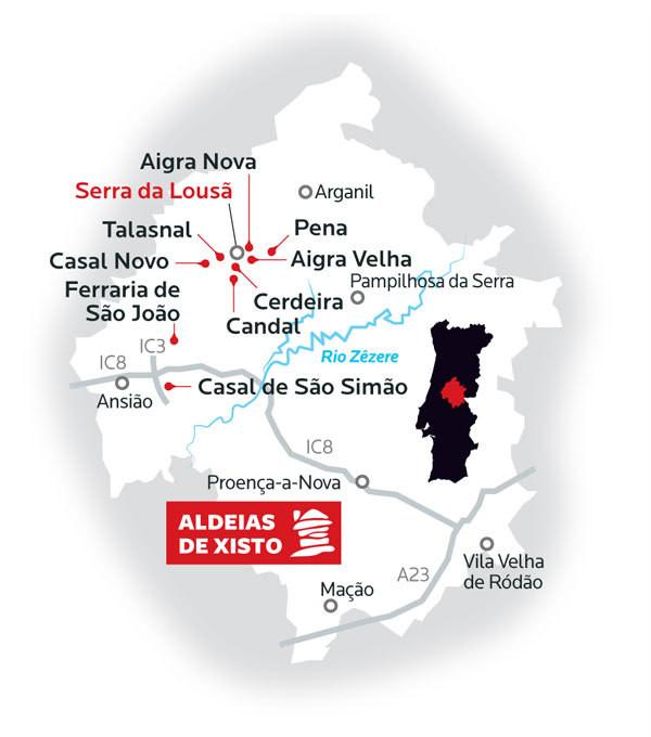 Mapa Aldeias Xisto