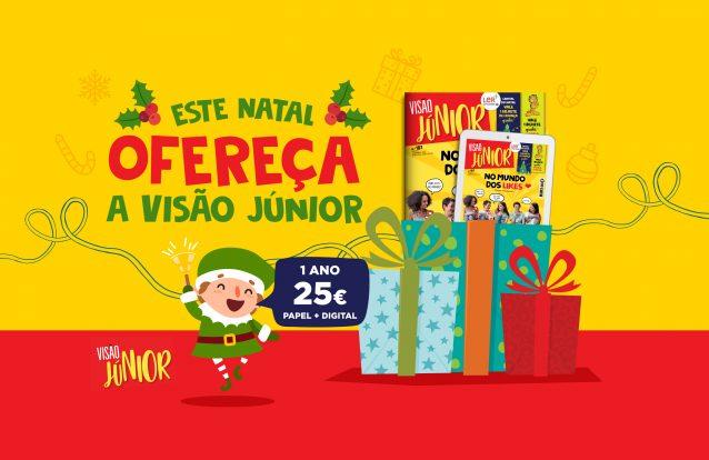 Este Natal, ofereça a VISÃO Júnior e os miúdos recebem a revista em casa pelo correio