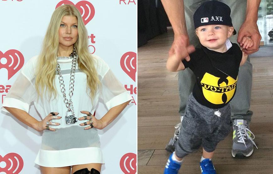 Fergie com o filho, Axl.jpg