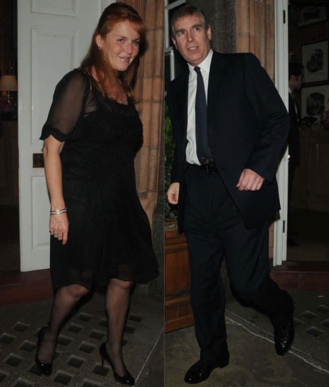 Sarah Ferguson e o príncipe André
