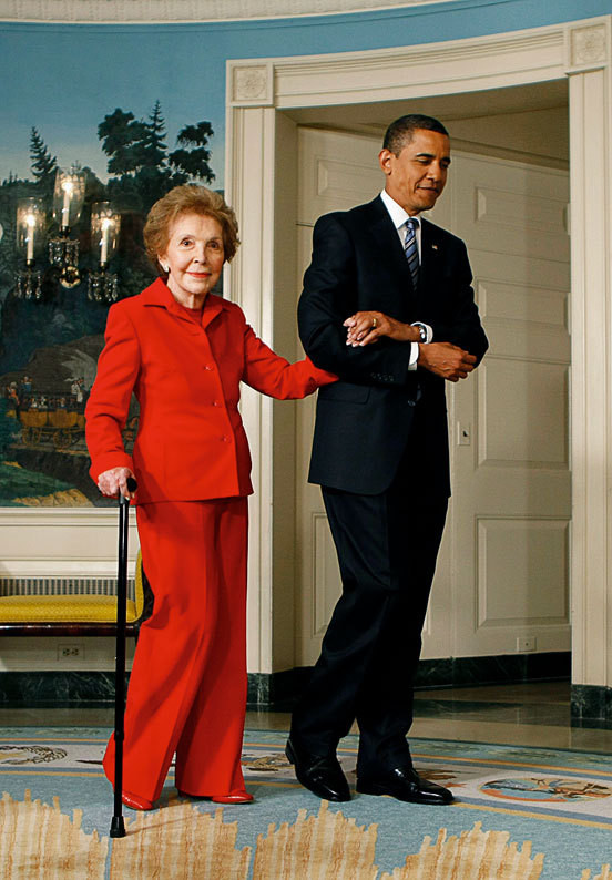 Nancy Reagan e Barack Obama
