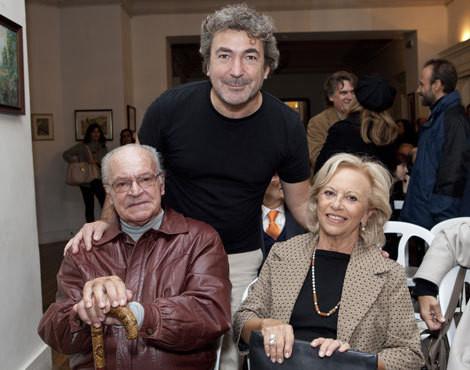 André Gago com os pais, Carlos e Maria Amélia Correia Gago