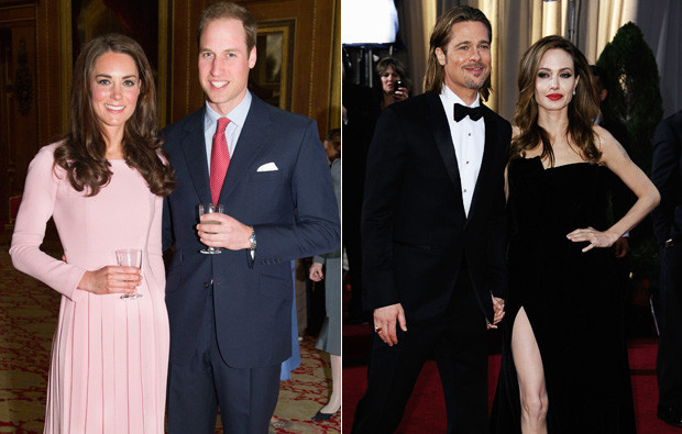 Catherine e William e Brad Pitt e Angelina Jolie.jpg