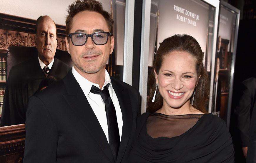 Robert Downey Jr. com a mulher, Susan.jpg