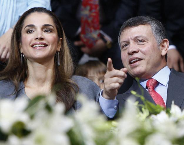 Os monarcas jordanos, Rania e Abdullah II