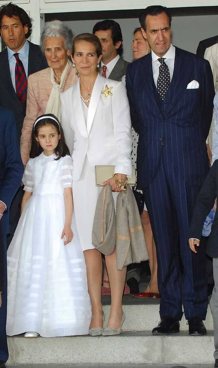 Infanta Elena e Jaime de Marichalar com a filha Victoria Federica