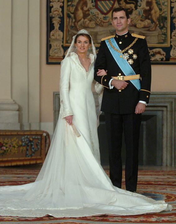 Os príncipes das Astúrias no dia do casamento
