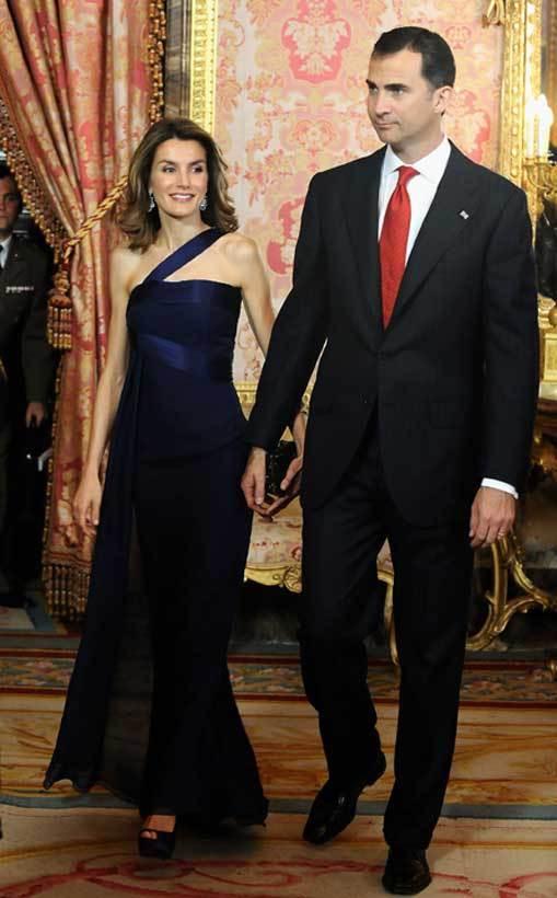 Príncipes das Astúrias no jantar em honra do presidente da República Dominicana, que decorreu no Palácio Real de Madrid